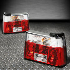 FOR 85-92 VW JETTA MK2 PAIR RED/CLEAR LENS TAIL LIGHT BRAKE/PARKING/REVERSE LAMP