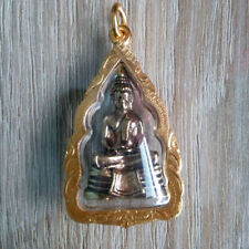 Buddha LP Sothorn Pendant Brass Thai Amulets Sacred Lucky Rich Success wish DAH