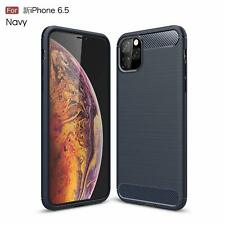 For iPhone Xi Max Ultra Slim Case Carbon Fiber Soft Silicone Back Cover Navy