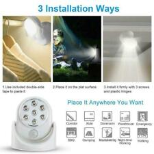 7 LED Wireless Motion Activated Detector Auto Sensor Lamp Battery Light Pow O8Z4