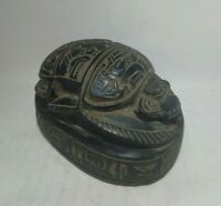 RARE ANCIENT EGYPTIAN ANTIQUE SCARAB Carved Stone 1798-1569 BC (5)