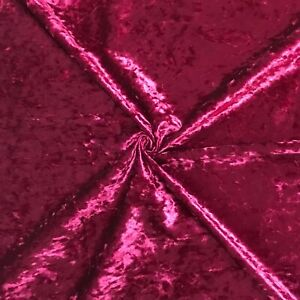 Soft Shiny Shimmer Pink Ice Crushed Velvet Upholstery Fabric Material Craft Bed