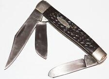 Vintage Case Xx 6392 Stockman Usa Folding Pocket Knife 3 Blade Brown Bone Handle