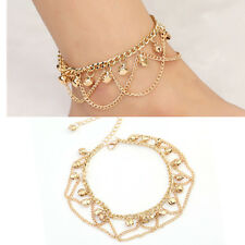 Jewelry Foot Gold Bead Chain Anklet Ankle Bracelet Barefoot Sandal Beach Jewelry