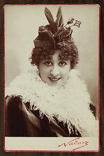 Biana Duhamel, Actrice de théâtre Chanteuse d'opérette, Cabinet card Photo Nadar