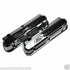 OEM NEW Ford Racing Chrome SBF 289/302/351 V8 Valve Cover Set 302-139 Mustang