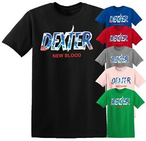 Dexter New Blood T Shirt 2021 Spatter TV Show MORGAN Men Women Kids Xmas Top