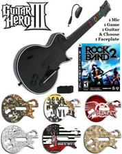NEW PS3 Guitar Hero III Les Paul Controller w/ Dongle & Rock Band 2 Game Bundle