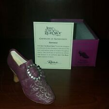 "Just the Right Shoe, Raine, ""Baroness"" mixed media, miniature #25085 Coa/Nib"