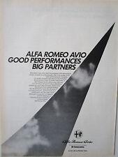 11/1986 PUB  ALFA ROMEO AVIO REPAIR OVERHAUL AERO ENGINE MAINTENANCE ORIGINAL AD