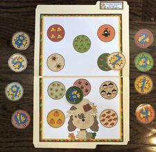 Fall Puppy Counting Preschool Math Centers File Folder Game Teacher Resource