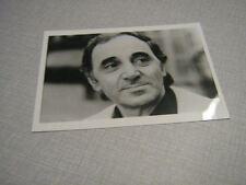 Charles Aznavour Photo de presse 02. 18*13 MAURICE CHEVALIER