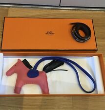 Hermes Rodeo PM Rose Azalee, Vert Cypress, Blue electric New In Box
