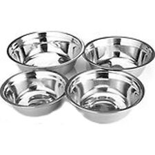 4x Stainless Steel Mixing Bowl 14/16/18/20cm Diameter Bolw Set Kitchen Tool 2017