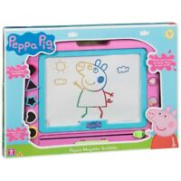 Peppa Pig Peppa's Magnetic Scribbler Kids Drawing Toy Playset Pen & 5 Stamps New