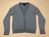 Tommy Hilfiger Cardigan Mens ~ Large ~ Great Cond Buttoned Jumper Micro Stripes