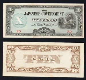 Japanase Government (Philippines) - 10 pesos 1943 qFDS/UNC-  A-09