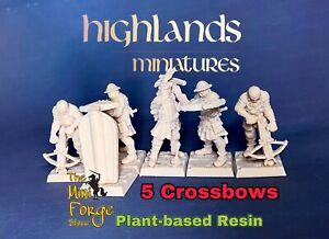 bretonnian Crossbows archers, Highlands Miniatures, warhammer fantasy