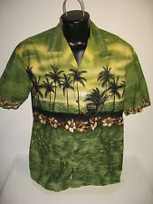 #6292 VINTAGE BLUE HAWAII SS SHIRT MEN'S XL GOOD USED