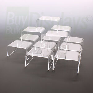 Mini Acrylic Display Risers Set of 12 -  2-1/4 x 3 x 1-1/2 High