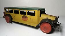 """Vintage Early Girard Tin Litho Wind Up Bus 14"""" - Chein"""