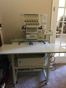 BROTHER 12 NEEDLE COMMERCIAL SINGLE HEAD EMBROIDERY MACHINE