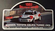 Aufkleber Rallye de España 1992 TTE TOYOTA Celica Turbo 4WD WRC Sticker