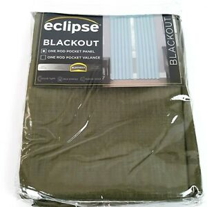 """Eclipse Blackout Curtain Panel 42"""" x 54"""" Rod Pocket Olive Green New Package"""