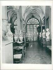 1956 Gallery of Mirrors in Prince Rainier's Palace Original News Service Photo