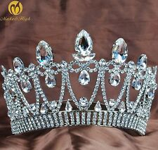 Beauty Pageant Tiara Headpiece Clear Crystal Wedding Bridal Party Costumes New
