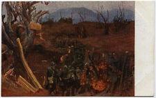 cartolina militare TRINCEE SUL SAN MARCO illustr.A.SARTORIO
