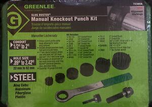 greenlee slug buster 7238sb Manual Knockout Punch Kit
