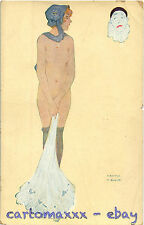 Raphael Kirchner Postcard - Woman with Pierrot Mask - K051