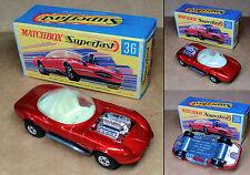 "1 VINTAGE ('70s) MATCHBOX SUPERFAST - NO.36 - ""DRAGUAR"" - MINT IN BOX"