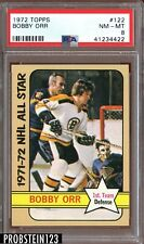 1972 Topps Hockey #122 Bobby Orr Boston Bruins PSA 8 NM-MT