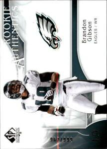 2009 SP Authentic Football Card #280 Brandon Gibson Rookie