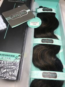 "IndiRemi® Virgin Remi Hair Weave_ITALIAN_WAVE_WEAVING_18""_#P1B/30"