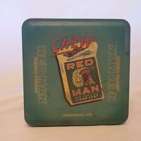 RED MAN Chewing Tobacco Tin Box 1989 Limited Edition Men Chew Indian Cigar Leaf