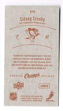 2009-10 Upper Deck UD Champ's Champs Mini Red Back #279 Sidney Crosby !!