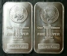 Two 1oz Silver Morgan Bars