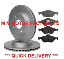 FORD FUSION (02-) 1.25 1.4 1.6 16v TDCi FRONT 2 BRAKE DISCS AND PADS SET