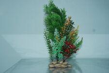 Plantas De Acuario Piedra Base 10cm base y 30 Cms De Alto verdes y rojo en COLOR