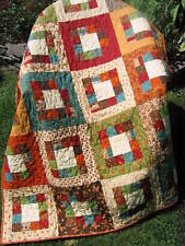 Market Square QUILT PATTERN Jelly Roll or Fat Quarters, simple, fast and easy