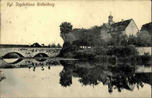 Grillenburg Sachsen Sächsische Schweiz AK ~1910 Brücke Schloss Jagdschloss Teich