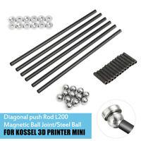 200mm Diagonal Push Rods Arms Ball Joint Kit Parts For Mini Kossel 3D Printer
