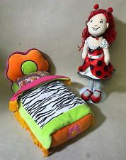 2091 Manhattan Toy Groovy Girls Flower Power Plush Bed & Lana Doll Lot
