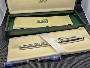 Cross Century II Sterling Silver Fountain Pen Nib Gold 18K Fine