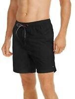 Tommy Hilfiger Mens Designer Solid Board Shorts Swim Trunks Black Size S M L XL