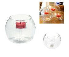 Crystal Glass Candlestick Candle Holder Flower Vase Home