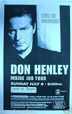 "Don Henley 2000 ""Inside Job Tour"" San Diego Concert Poster - The Eagles"